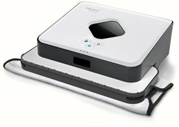 iRobot Braava 390T Staubwischroboter (systematische Feucht- und Trockenreinigung, 2000 Watt) weiß -